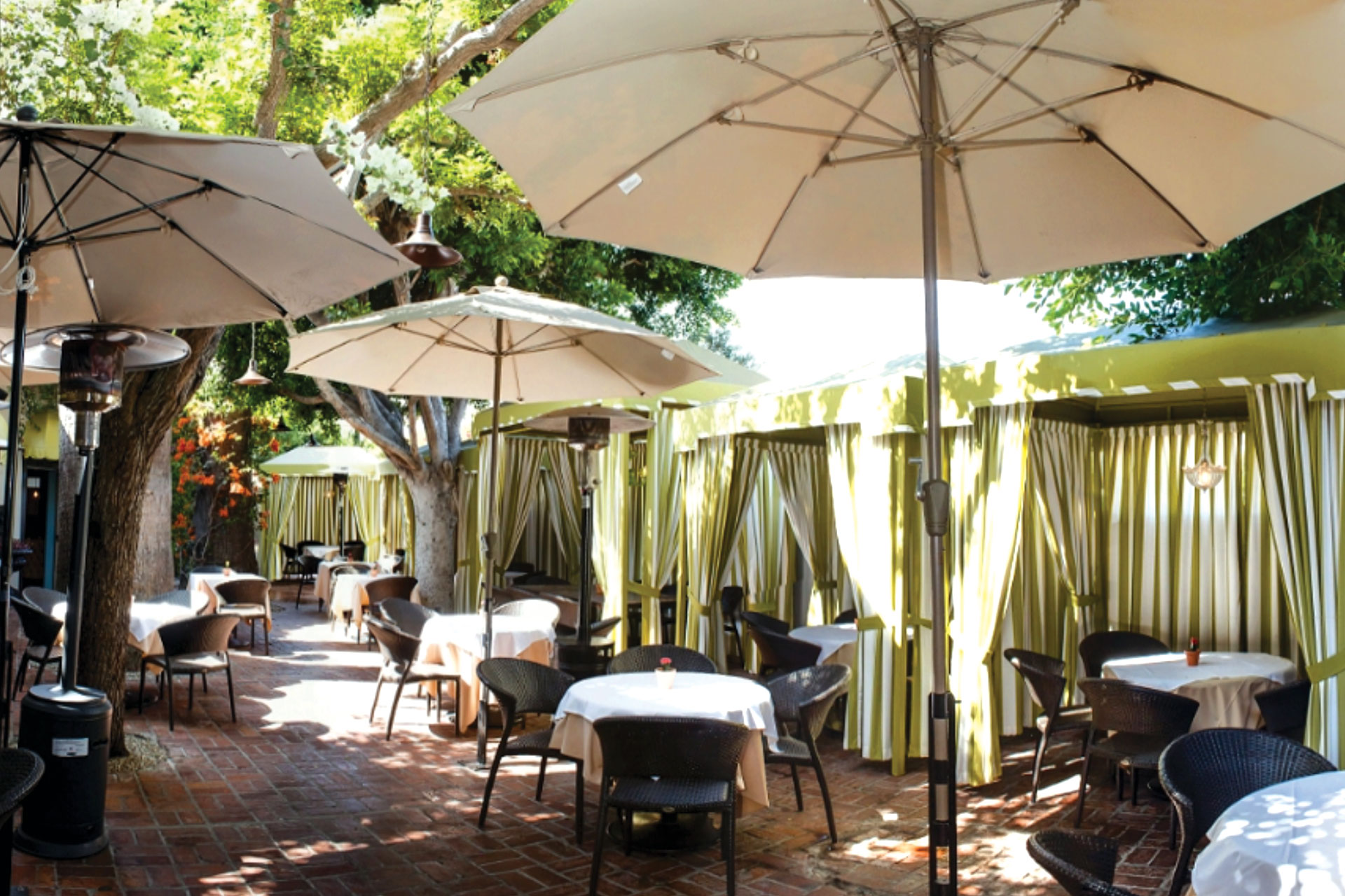 Private party set at the patio with private cabanas